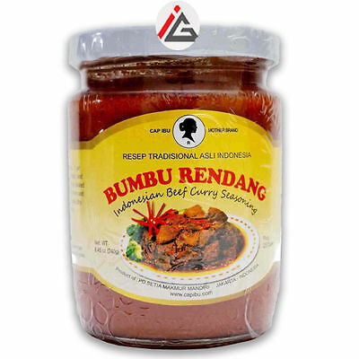 CAP IBU Motherbrand - Bumbu Rendang (Indonesian Beef Curry Seasoning) - 240 gm