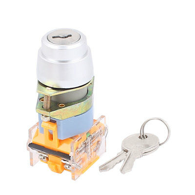 10A 660V AC On/Off 2 Positions Rotary Selector Key Lock Switch