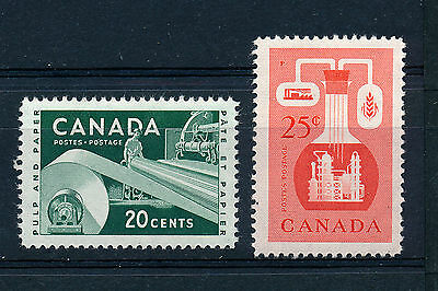 Canada 1956 Pulp And Paper Industry/Chemical Industry Sg488/489 Blocks Of 4 Mnh