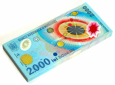 Romania 2000 Lei 2000 P 111 Unc Polymer Bundle Of (100 Notes)