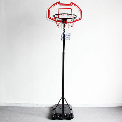 Portable Adjustable Height  Basketball Stand Backboard Hoop and Net outdoor toys
