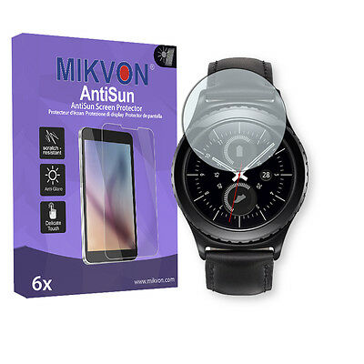 6x Mikvon AntiSun Screen Protector for Samsung Gear S2 (2016) accessories