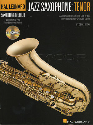 Hal Leonard Jazz Tenor Saxophone Method Book with CD Learn How To Play Method
