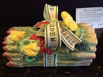Fitz & Floyd China HERB GARDEN Asparagus Covered Bowl Trinket Box