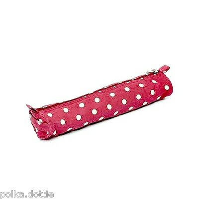 Knitting Needle Case Storage Bag for Knitting Pins Red Polka Dot Design