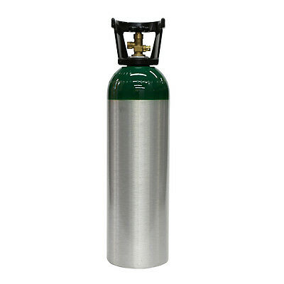 60 cu ft Aluminum Oxygen Cylinder for Oxygen-Acetylene Welding - NEW CGA540