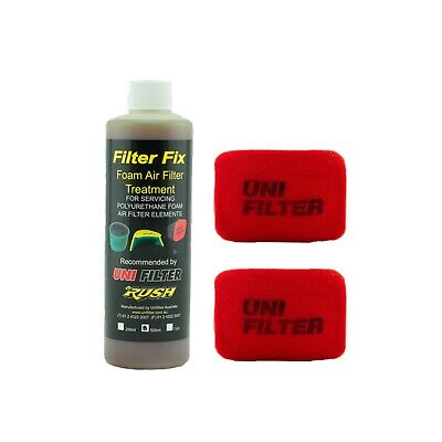 2 X UNIFILTER Safari Snorkel Ram Head (175Wx125H) Cover Pre Cleaner & Filter Oil