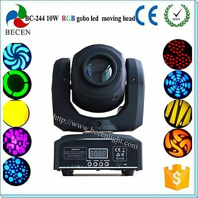 10w gobo mini led moving head lights with remote control for stage club
