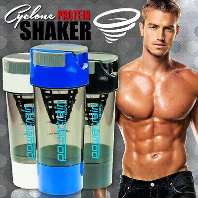 PowerTrain Cyclone Cup Sports Drink bottle Whey Protein Supplement sports shaker