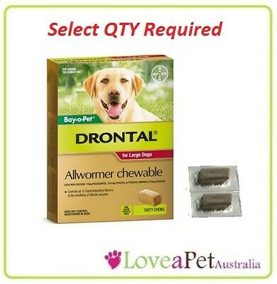 Drontal All Wormer Chews for  LARGE Dog by Bay O Pet