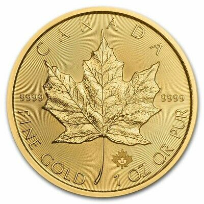 2019 1 oz Canadian Gold Maple Leaf Coin .9999 Fine Gold BU
