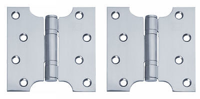 "BRASS/POLISHED/SATIN Parliament Door Hinges Button Tipped 4 x 4"",5"" & 6"" +Screws"