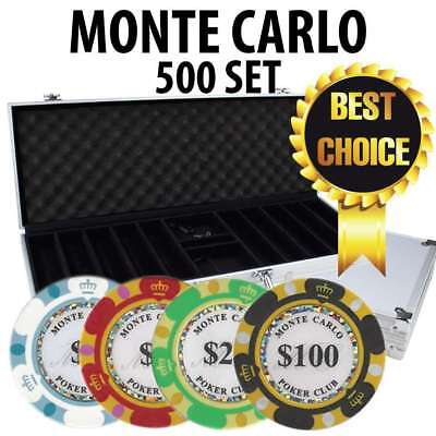 Monte Carlo 500 Poker Chip Set with Aluminum Case