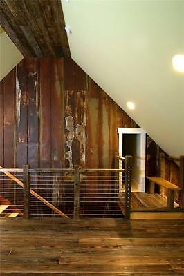 Reclaimed Metal Roofing Panels - Recycled Vintage - Rusty Barn Tin (PER SQ.FT.)