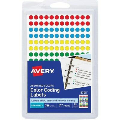 Avery 34 Round Color Coding Labels 5472 2051 Picclick