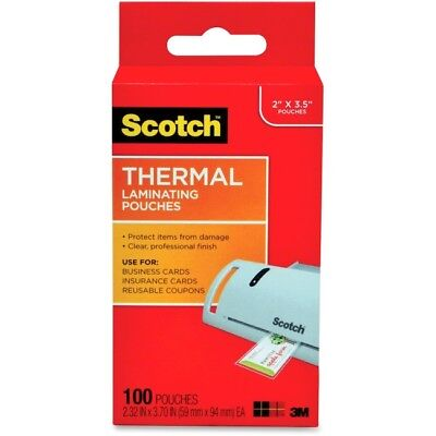 Scotch Thermal Laminating Pouches, Business Card Size TP5851100