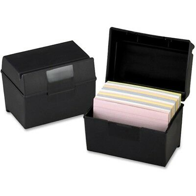 Oxford Plastic Index Card Boxes w/ Lids 01461