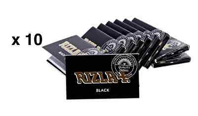Papier à rouler Rizla Black NEW x 10 Feuilles Envoi Express rolling papers cheap