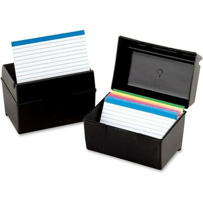 Oxford Plastic Index Card Boxes w/ Lids 01581