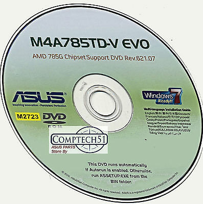 Asus M4A785Td-V Evo Rev 2 Motherboard Drivers M2723 Win 8 & 8.1