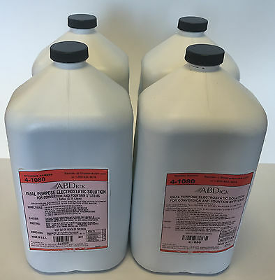 AB Dick Dual Purpose Electrostatic Solution 4-1080 - 4 Gallons