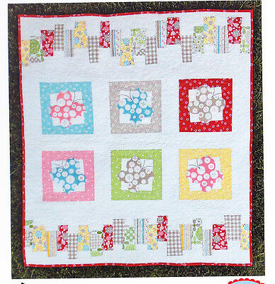 SALE - Dance of the Butterflies - applique and pieced quilt PATTERN