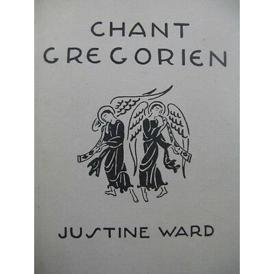 WARD Justine Chant Grégorien Méthode 2 vol 1938  Partition Sheet Music Spartiti