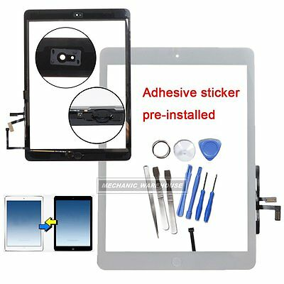 For IPAD Air / 5 Touch Screen Digitizer Front Glass HomeButton White Replacement