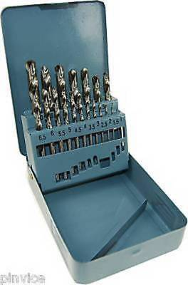 HSS DRILL SET METRIC 1-10MM X 0.5MM - 19pc GROUND