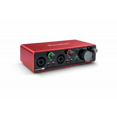 "FOCUSRITE Scarlett 2i2 ""2nd Gen"" Interfaccia audio usb 2 in/2 out 192kHz 24bit"