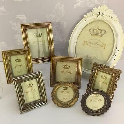 New VINTAGE SHABBY CHIC RIBBED GOLD SILVER CREAM PHOTO PICTURE FRAMES Home Gift