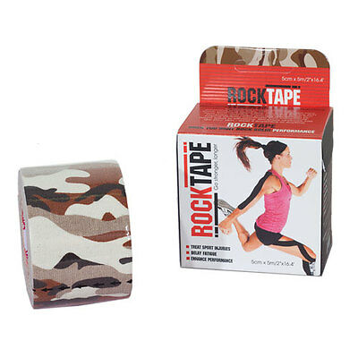 Rocktape 5cm X 5m Unisex Accessory Kinesiology Tape - Brown Camouflage One Size