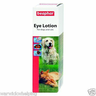 Beaphar Eye Lotion helps reduce irritations Dog easy to use 50ml (03/17 use by)