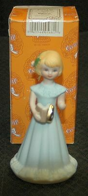 Enesco Growing Up Girl AGE 6 Blonde Figurine/Cake Topper E-2306  - New in Box
