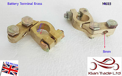2 x 12V Battery Terminals Connectors Clamps Car Van Caravan Motorhome Heavy-M603
