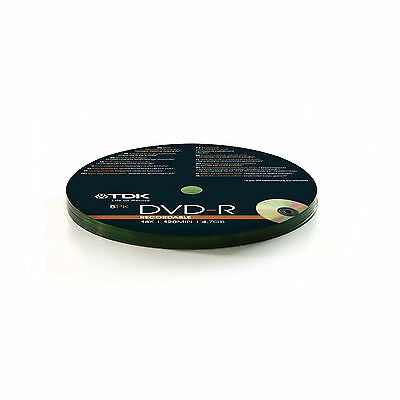 TDK DVD-R 4.7GB 16X 120MIN 10 Pack Spindle Shrink Wrapped - T78650