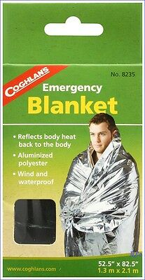 Coghlans Emergency Blanket Survival Blanket  8235