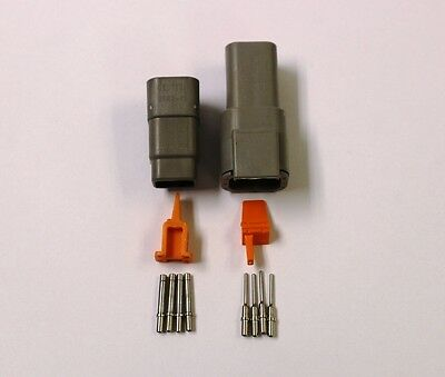 Deutsch DTM 4 Pin Connector Kit 20 GA Solid Contacts