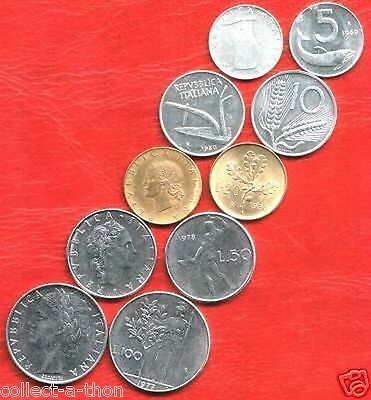 COLLECTION LOVELY OLD ITALIAN COINS 50's-70s incl RARE 50L & 100L Retail Val $75