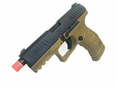 UMAREX WALTHER PPQ Tac Gas Blow Back Airsoft Pistol by VFC - Black/Tan - New