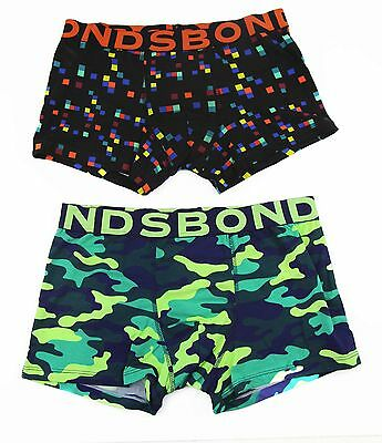 Bonds Boys Wideband Trunk Underwear Trunks Shorts Black Multicoloured 12 14 16
