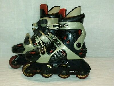 Boy's/men Competitive Edge Roller Blades Inline Skates Size 5-8 CW014 good cond.