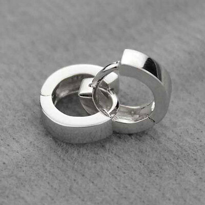 Fashion Men Women 925 Sterling Silver Plated Hoop Earring Earrings Hoop Huggie