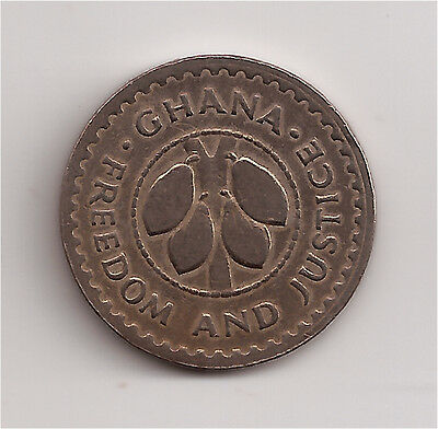 World Coins - Ghana 10 Pesewas 1967 Coin KM# 16 Lot-P2