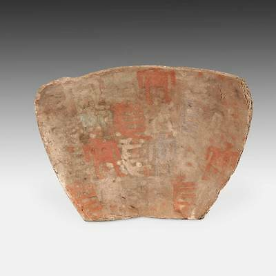 Rare Antique Offrenda Votive Tablet Painted Pottery Chucu Arequipa Peru 13Th C.