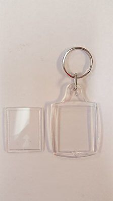 Acrylic Clear Keychains - Lot of 90