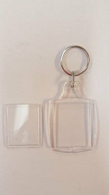 Acryylic Clear Keychains - Lot of 90