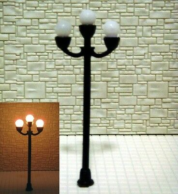 S095 - Set 5 Pieces Street Lamps 3 variable height 6 - 7,3cm Parking lights