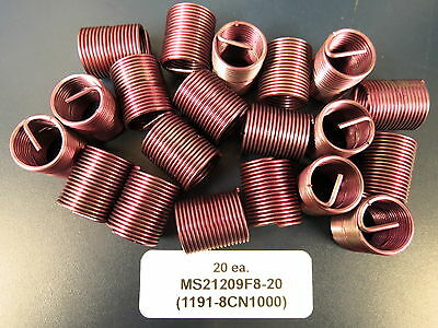 Helicoil 1/2-20x1.00 Helical Inserts 1191-8CN1000 / MS21209F8-20 (20)
