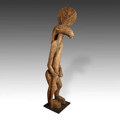 Vintage Standing Figure Carved Wood Bobo People Mali West Africa 20Th C.